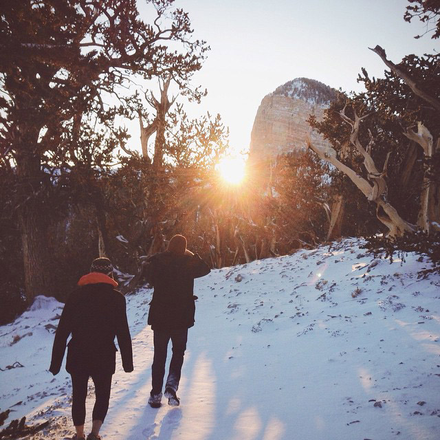 Went looking for sunshine and also found snow. #winter #adventures #sunset #justgo
