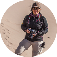 Nasa Koski shooting on location in the Great Sand Dunes National Park