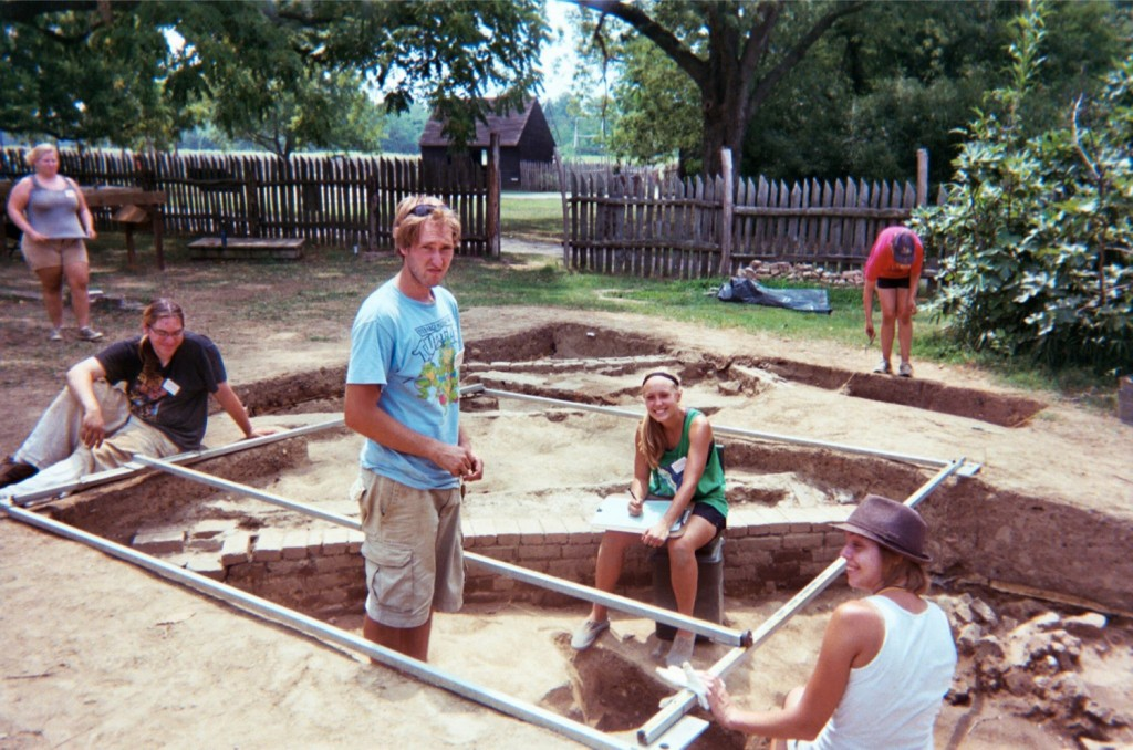 Carly Harmon on an archaeology dig