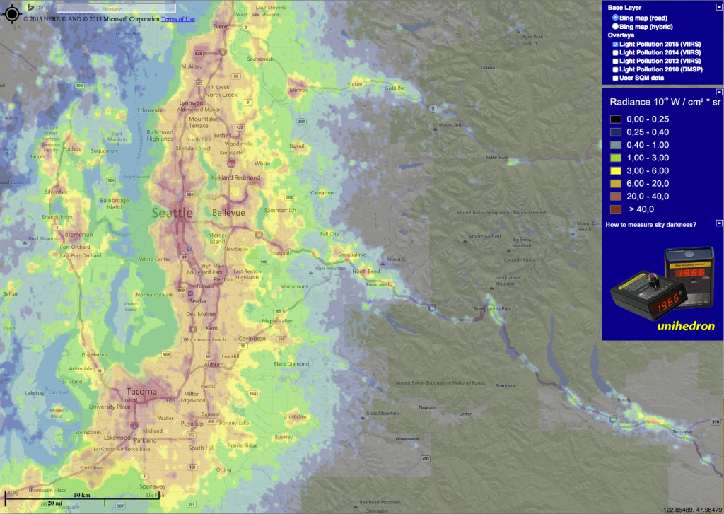 Light Pollution Map