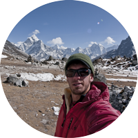 Adventure Filmmaker Jim Aikman captures a selfie while on location in Nepal