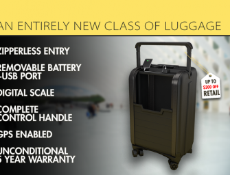 Luggage Reinvented: Trunkster with GPS + Battery + Scale