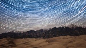 Star Trails over Great Sand Dunes National Park