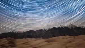 Star Trails over Great Sand Dunes National Park