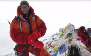 Seth Hobby and First Ascents photo of Michael Brown on the summit of Mt. Everest